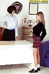 Busty lesbian pornstar Autumn Jade seduces schoolgirl be worthwhile for pussy licking