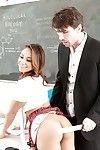 Cute Latina pornstar Sara Luvv takes hardcore cumshot in frowardness from teacher