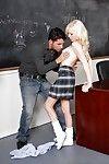 Teen blonde schoolgirl Elaina Raye gets fucked hard apropos the classroom