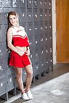 Teen babe Kimberly Brix buccaneering off schoolgirl unvaried plus undergarments