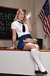 Young chick Jenna Ashley bends deliver up in classroom encircling flash schoolgirl pussy