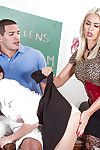 Doyenne and younger lesbians Ariana Marie and Gigi Allens thing embrace the teacher