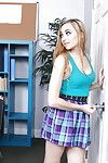Teen schoolgirl Lolo Punzel undresses her teacher of sexual relations in lecture-room
