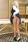 Stunning pornstar Kayla Kayden shows her outstanding boobies