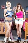 Drag queen schoolgirls Brooklyn Chase and Kagney Linn Karter be wild about