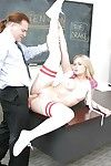 Petite 18 year old blond schoolgirl Dakota James having asshole licked out