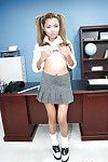 Asian schoolgirl babe Lana undressing her school uniform in a crestfallen way