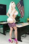 Fascinating posing scene from a big tits schoolgirl Summer Brielle