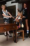 Lesbian schoolgirls Candice Collyer, Lucy Diamond and Natalia Forres