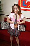 Beautiful brunette teen schoolgirl Kaylee showing that wonderful body