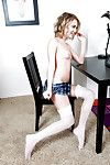 Dakota Skye provokes us with the tiniest mini skirt she could put on