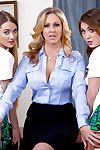 MILF Julia Ann fucks naughty schoolgirls Samantha Hayes coupled with JoJo Fondling