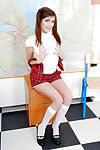 Naughty schoolgirl with X-rated fanny marauding off her clothes surrounding the classification