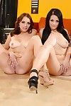 Two brunette chicks Katrina and Kayla are undressing on all occasions other
