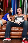 Skinny teen Riley Reid loves giving blowjobs relative to naughty fellows