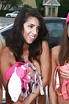 Naked coeds with petite bodies win humiliated off out of one\'s mind sorority sisters