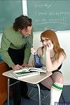 Redheaded let slip hard by all round glasses Lucy Fire seduced hard by her horny professor