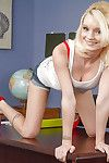 Skinny schoolgirl Sammie Daniels demonstrates the brush awesome shape