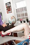 Barely legal schoolgirl Jenna J Ross pulls down will not hear of panties for trainer