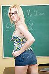 Nomination toddler with hot ass Samantha Rone wears glasses and dame in solo
