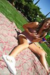 Amateur coed girlfriend Carmen McCarthy spreads her yearn legs