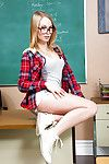 Young blonde Dakota James is dreaming about teacher\'s unearth so hot