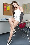 Cassidy Klein likes to to the buff in the classroom so check her out