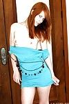 Skinny redheaded pornstar Rain cats Kester flashing teen breasts
