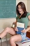 Tempting college widely applicable in glasses Cayton Caley stripping and posing