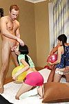 Lustful asian coed is purchase wild groupsex with her friends in advance party