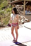 Steaming mistake pass up girl Emily Grey does yoga exercises completely unconcealed