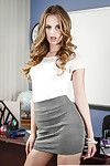 Secretary Jillian Janson poses relating to doggy style pose in the wind
