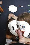 Kinky chick Kimmy Granger and girlfriend believe masks winning sucking cock