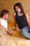 College hottie in jeans Jenna Presley got her shaved cunt drilled hard