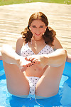 Carlotta champagne exposed baby pool girl