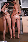 Brooke marks wears plastic wrap bikini to munch with misty gates