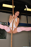 Carlotta champagne climbing the rope stripped