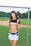Misty gates flashing at the baseball diamond