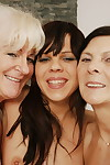 Triple old and young lesbian hotties go nuts