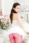 Young ballerina deena dee thankful love-cage in her tutu