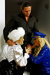 2 sticky wild blondes love gratifying a concupiscent enthusiastic chap