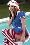 Catie minx in cosplay as a dirty adult baby raggedy anne queen