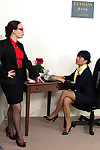 Twofold sexual office pretties slide out in the office