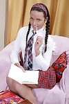 Schoolgirl anal and facial