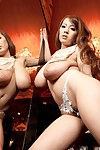 Chinese hitomi tanaka dresses up as a showgirl