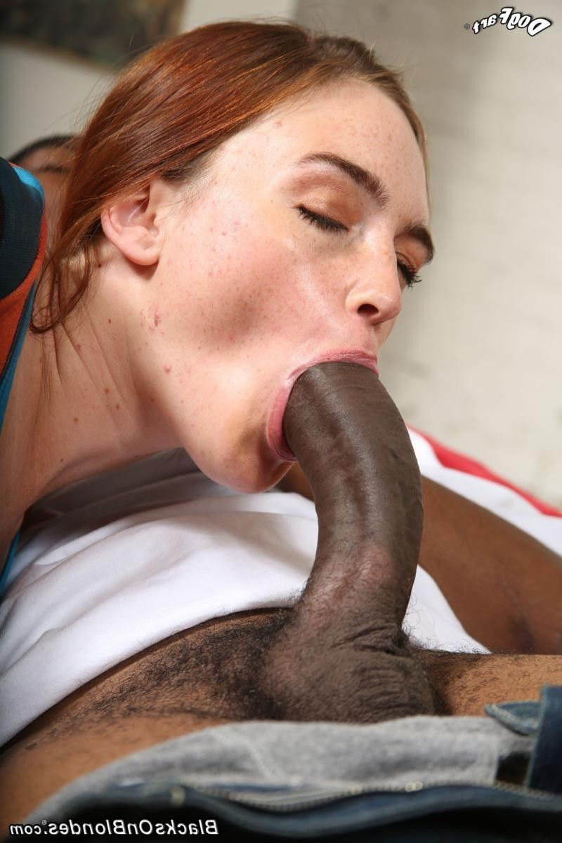 Girl sucks giant cock